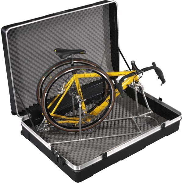 B W Bicycle Travel Case With Asf Black Abs Box 4 Wheels
